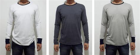 T Shirt Kaos 3d Jas Lengan Panjang kaos polos lengan panjang model ringer kaos murah bandung