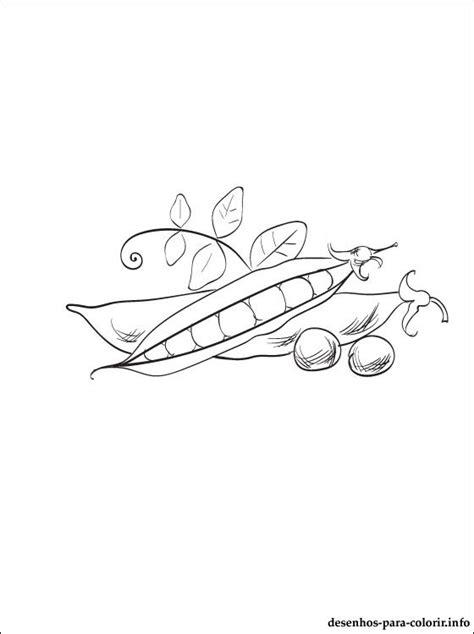 Ervilhas desenho para colorir | Desenhos para colorir