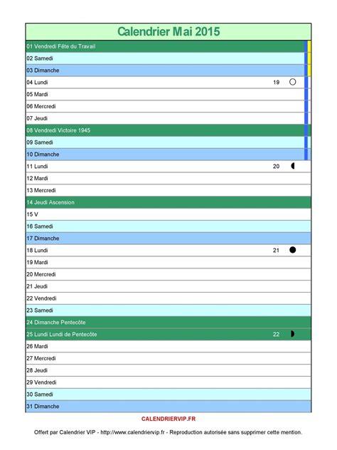 Calendrier Mai 2015 Calendrier Mai 2015 224 Imprimer Gratuit En Pdf Et Excel