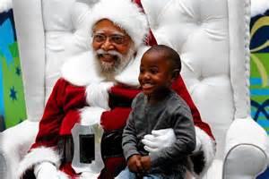 black santa claus and adults flock to l a rarity black santa claus ktla