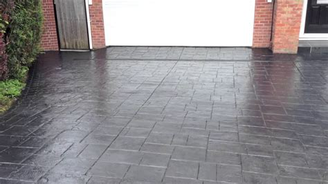 youtube pattern concrete pattern imprinted concrete driveway restoration in bristol