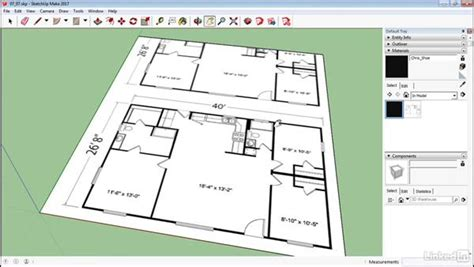 how to do a floor plan in sketchup create a floor plan using bitmaps