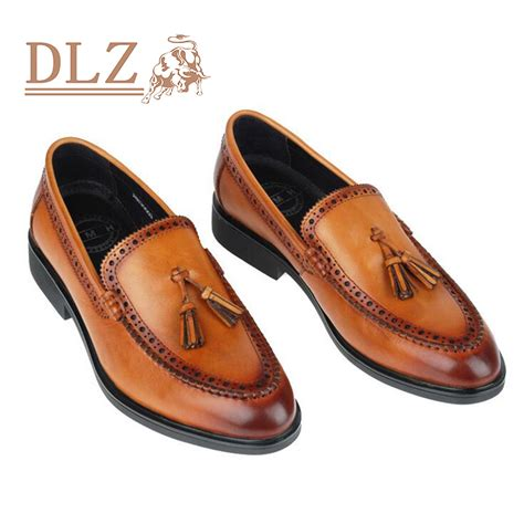 Mens Leather Shoes Handmade - fashion handmade leather shoes slip on toe