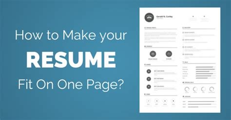 how to make your resume fit on one page 25 best ways wisestep