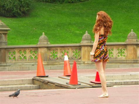 ny  central park, model photo shoot at angel statue | i