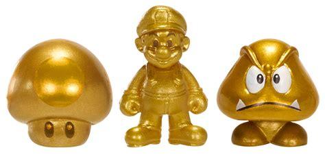 Bros Gold 3 gold mario gold gold goomba mini figure 3 pack