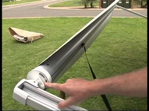 how to put an awning up setting up a roll out awning annex for jayco vans youtube