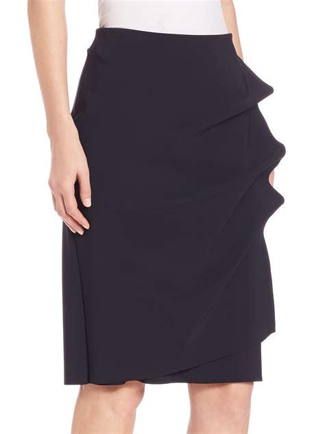 la robe di chiara boni side ruffle pencil skirt in