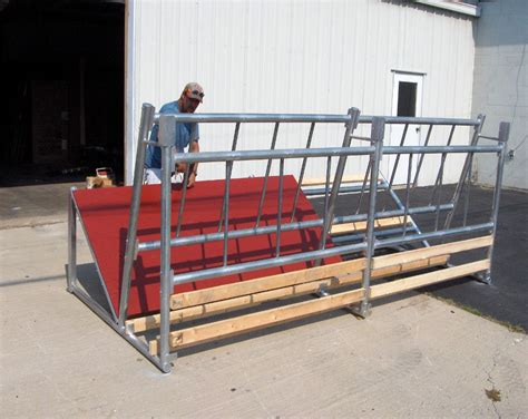 Fence Line Hay Feeders bk 6 fence line cattle hay feeder klene pipe structures