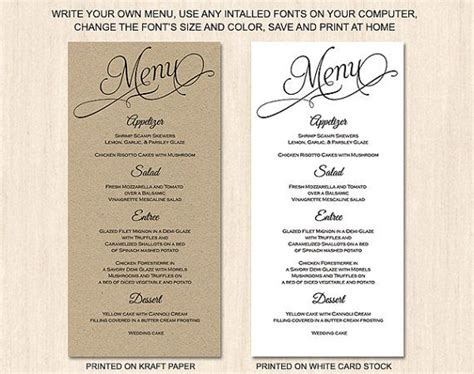 menu card templates 58 best menus images on