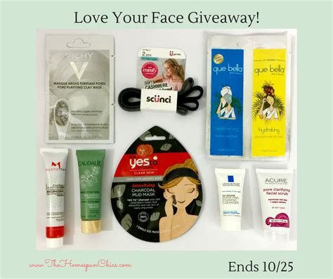 Love Giveaway - love your face giveaway ends 10 25 the homespun chics