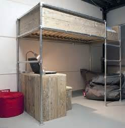 Diy Loft Bed Frame 15 Beds Made From Pipe To Give Your Apartment Industrial Chic