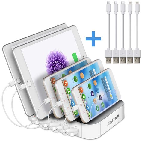 multi device charger station jzbrain multi device charging station 5 port usb charger