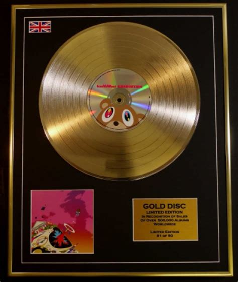 Kayne For Limited Edition At Shopbop by Kanye West Ltd Edition Cd Gold Disc Record