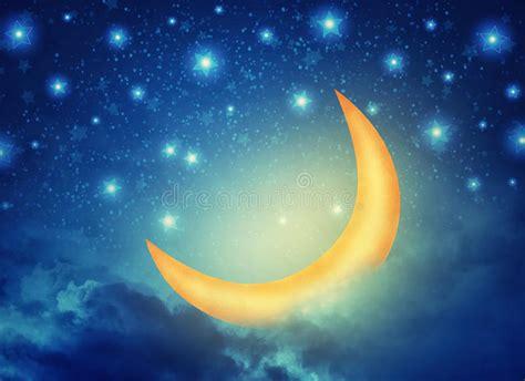 imagenes abstractas de la luna fondo de hadas de la noche abstracta con las estrellas la