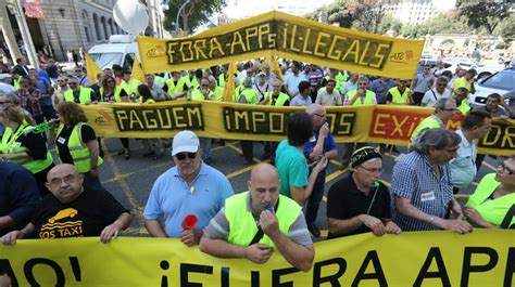 barcelona uber huelga de taxistas en europa contra una app de transporte