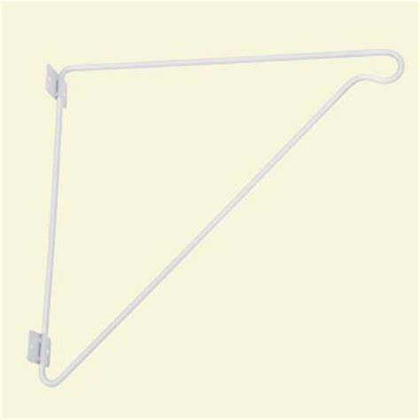 closetmaid rod bracket closetmaid 11 in x 12 in closet rod support bracket 1038