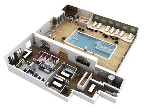 planos 3d planos de spa de lujo buscar con resort spas and