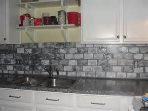 gray brick backsplash brick backsplash in the kitchen presented with