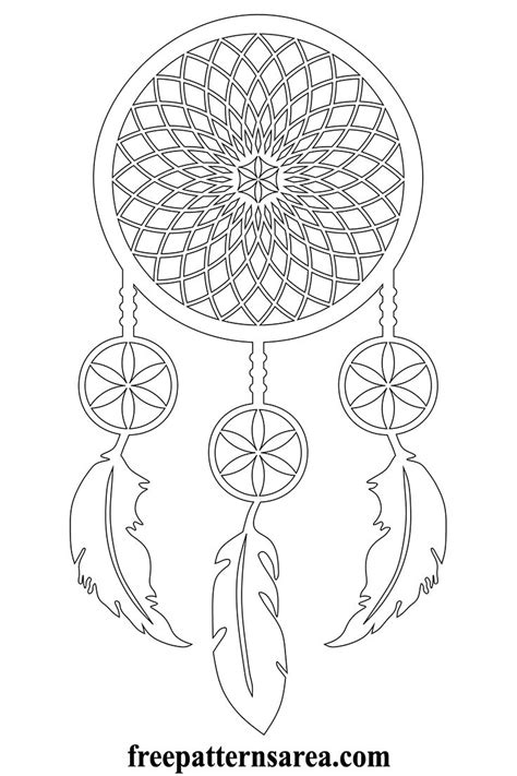 meaning  dream catcher  printable vector pattern