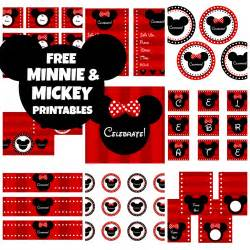 free mickey minnie mouse birthday printables from printabelle catch my