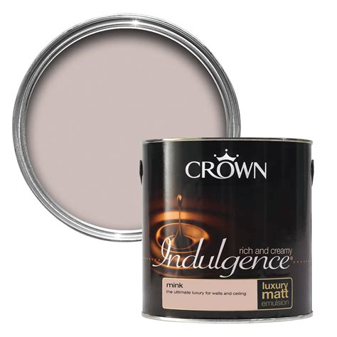 mink paint color crown indulgence mink matt emulsion paint 2 5l
