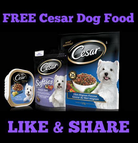 dog food coupons in canada free full sized bag of cesar dog food dog treats