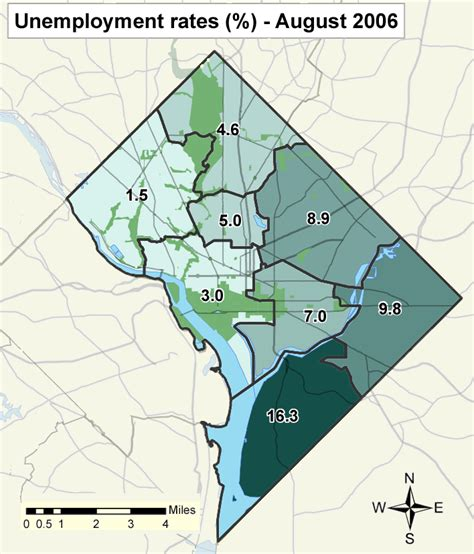 washington dc map of wards safe unsafe boundaries in dc washington fit in crime