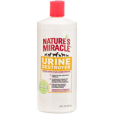 urine odor removal nature s miracle stain odor remover urine destroyer 32 oz