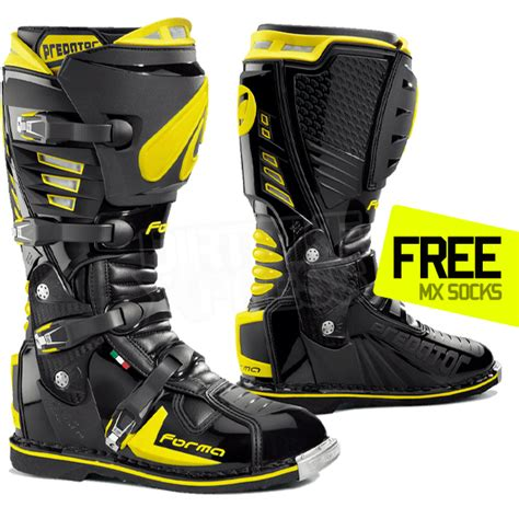what are the best motocross boots forma predator boot black yellow dirtbikexpress