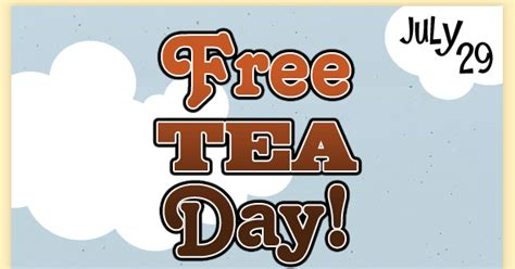 A Tastetea Reminder And Free Tea Offer by Coupon Stl Reminder It S Free Tea Day At Mcalister S Deli