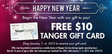 Tanger Outlet Gift Card Coupon Code - free 10 tanger outlet gift card super coupon lady