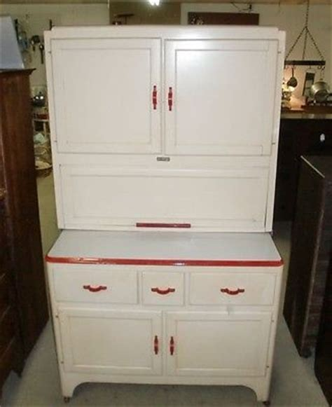 sellers kitchen cabinet antique vintage sellers kitchen cabinet white with red