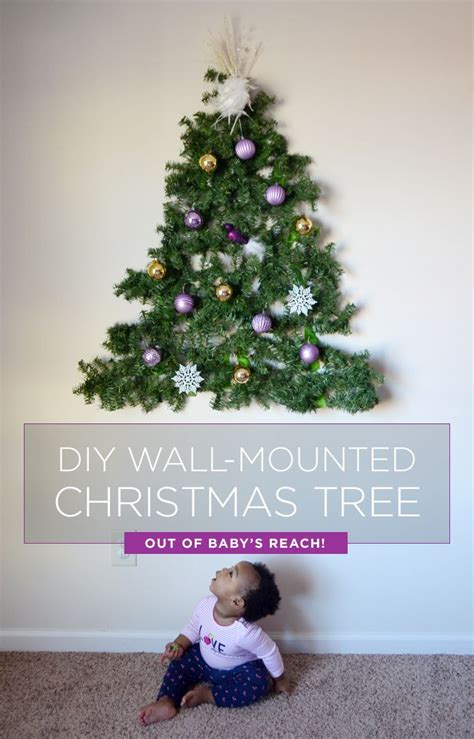 wall mounted christmas trees artificial princess decor