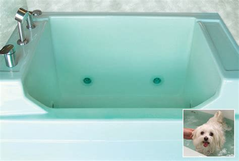 bathtub for dogs jentle pet spa promises a therapeutic bathing experience