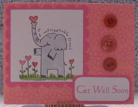 Handmade Get Well Card Ideas - get well soon adorable elephant a2 greeting card 6