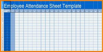 Employee Sheet Template by Attendance Sheet For Employees Excel 2017 Calendar