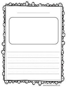 Sticker Story Kindergarten by Scroll Parchment A4 Page Borders Sb3643 Sparklebox