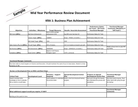 mid year review template mid year performance appraisal template performance