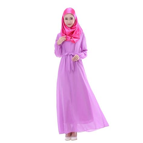 Maxi Dress Muslim Dress Wanita Mitha Maxi kaftan abaya jilbab islamic muslim cocktail chiffon sleeve dress in dresses from