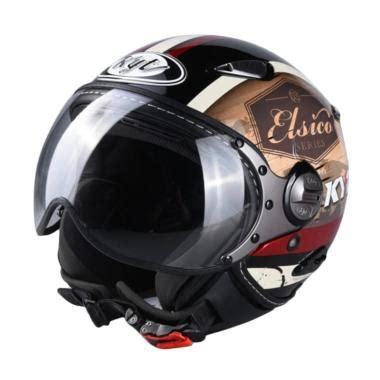 Helm Kyt Elsico Jual Kyt 4 Elsico Helm Half Black