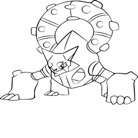 Coloriage Rocabot Pokemon L