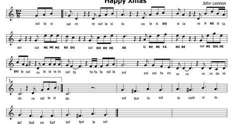 lennon merry testo musica e spartiti gratis per flauto dolce happy di