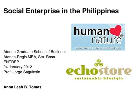 Mba Major In Entrepreneurship Philippines by Social Enterprises In The Philippines