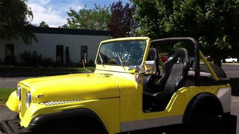 cj jeep yellow 1974 jeep cj5 4x4 yellow black lifted 33 s clean