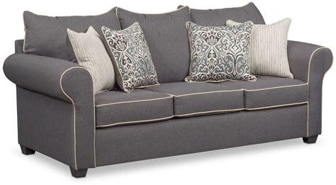 gray sofa and loveseat carla queen memory foam sleeper sofa gray american
