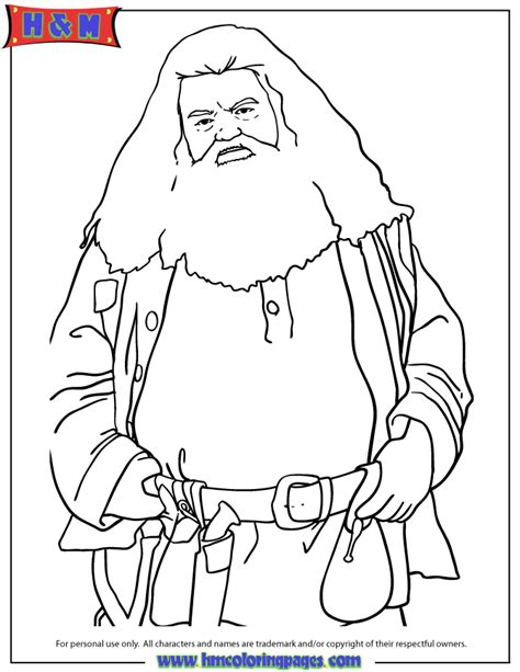 harry potter coloring pages half blood prince half rubeus hagrid from harry potter coloring