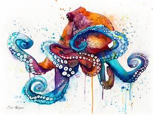 octopus painting by slavi aladjova