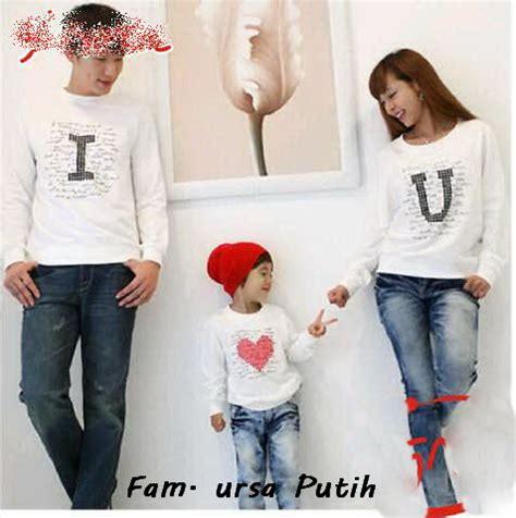 desain baju kaos keluarga family ursa putih dunia couple baju couple online