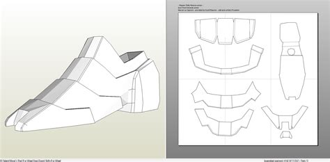 iron man suit template iron helmet template pepakura